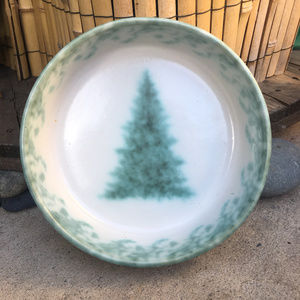 Vintage Kitchen - Vtg Pysht Pot Christmas Tree Pottery Bowl Dish 93